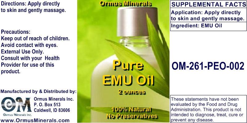 Ormus Minerals - Pure EMU OIL
