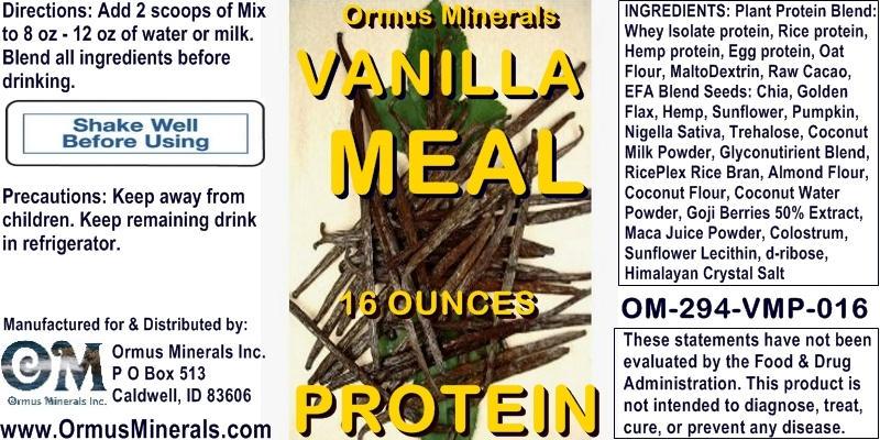 Ormus Minerals - Vanilla Meal Protein