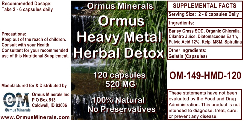 Ormus Minerals Ormus Heavy Metal Herbal Detox