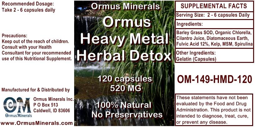 Ormus Minerals Ormus Heavy Metal Herbal Detox